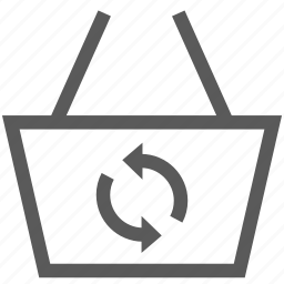 basket, buy, cart, refresh, shop, shopping basket icon