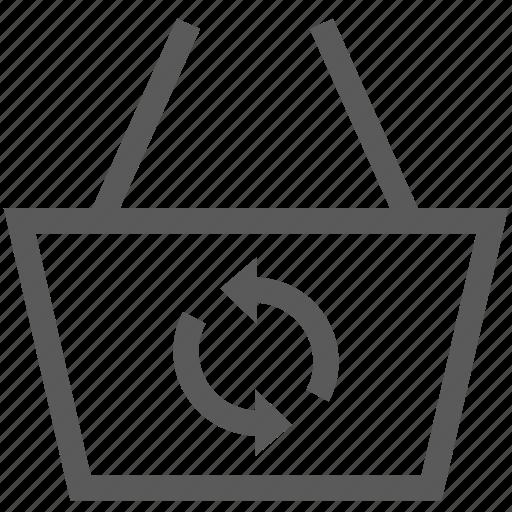 basket, buy, cart, refresh, shop, shopping basket icon