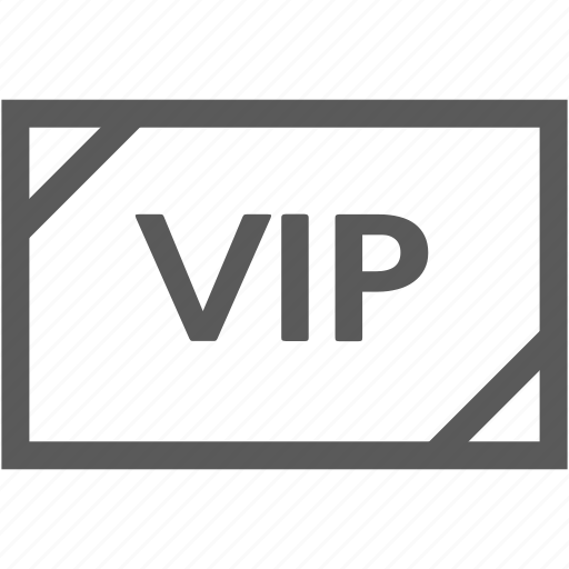 coupon, event, ticket, vip icon