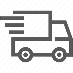delivery, logistics, lorry, quick, shipping, truck icon