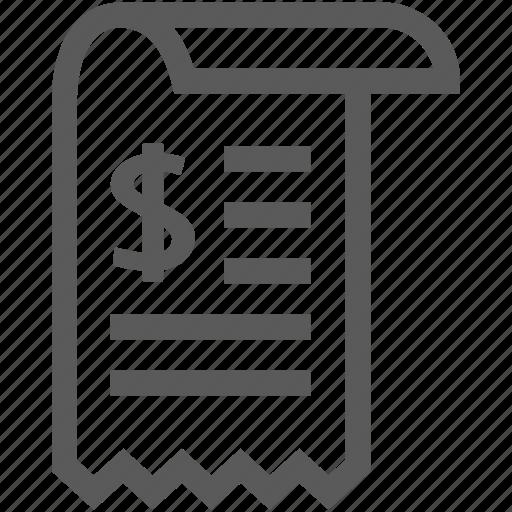 document, invoice, payment, price, receipt icon