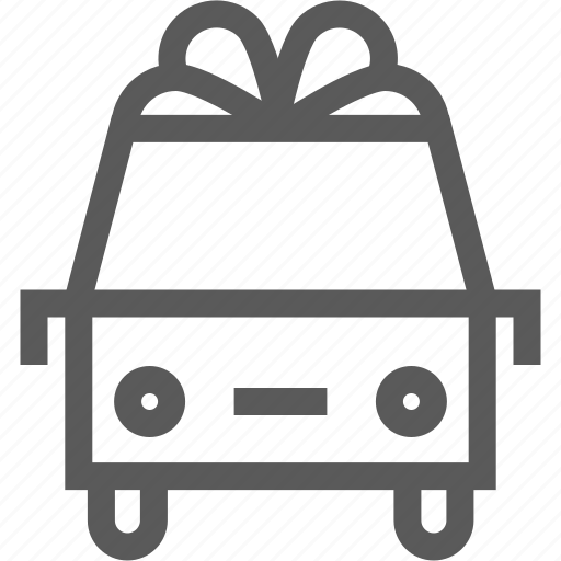christmas, delivery, logistics, present, ribbon, shipping, truck icon
