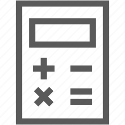 caculate, calculator, math, mathmatics icon