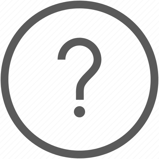 circle, customer service, help, information, question icon