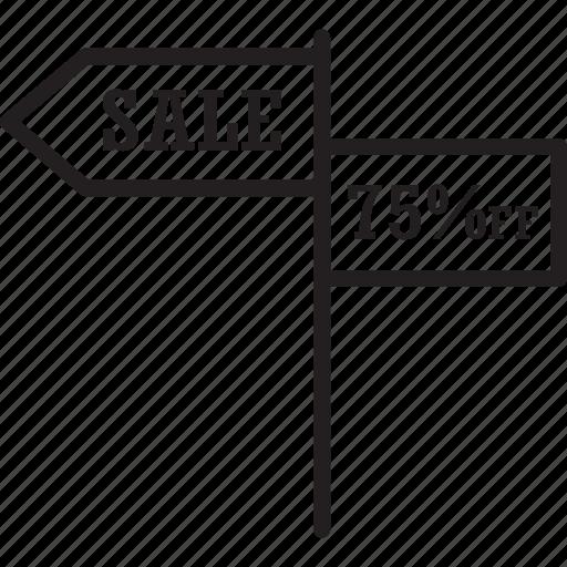 advertisement, arrow, sale, sale sign icon