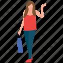 girl standing, shopping, shopping girl, shopping time, window shopping icon
