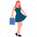 girl posing, girl standing, happy girl, leisure activities, shopping time icon