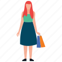 buying, girl shopping, leisure time, purchasing, teenager shopping icon
