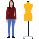 dress designer, dummy, mannequin, model, professional designer