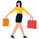 buying, leisure time, purchasing, shopping girl, teenager shopping icon