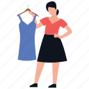 dress designer, readymade dress, dress selling, boutique, clothes shop icon