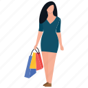 purchasing, shopping time, buying, spending, leisure time icon