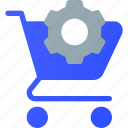 cart, ecommerce, settings, shopping