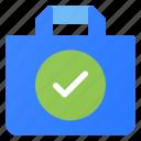 bag, check, ecommerce, shopping