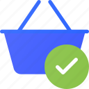 basket, check, ecommerce, shopping