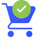 cart, check, ecommerce, shopping