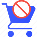 cart, disable, ecommerce, shopping