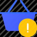 basket, ecommerce, error, shopping