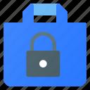 bag, ecommerce, lock, shopping