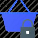 basket, ecommerce, lock, shopping