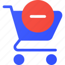 cart, ecommerce, remove, shopping