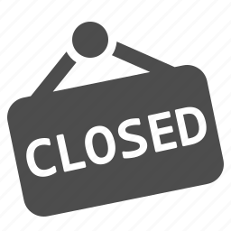 closed, door sign, shop, shopping, sign icon