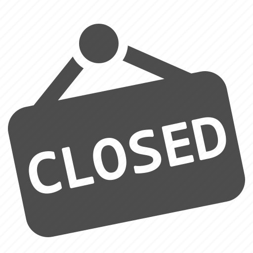 Closed Sign Icon Closed, door sign, shop,