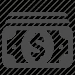 bills, cash, dollar, finance, money, shopping, stack icon
