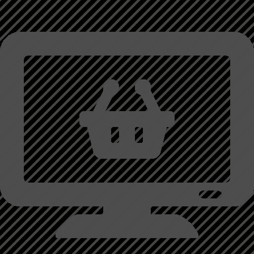 e-commerce, monitor, shopping, smart, teleshopping, tv icon