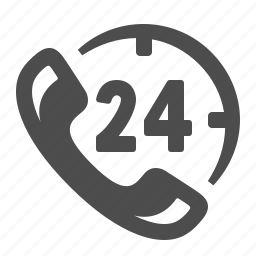 24/7, assistance, communication, customer support, phone, shopping icon