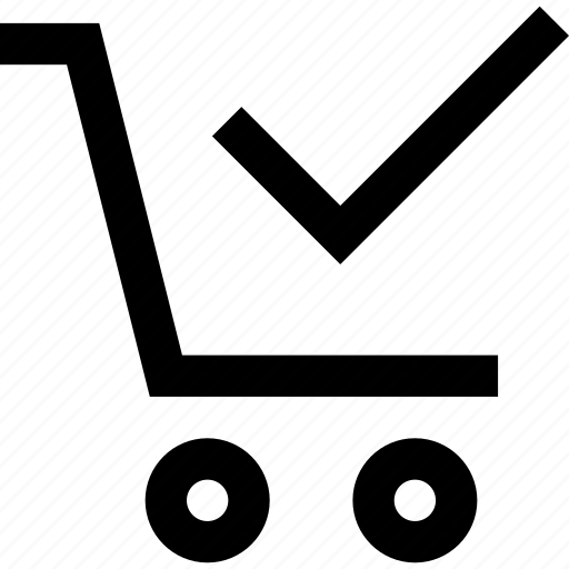 bag, basket, cart, check, mark, shop, shopping icon