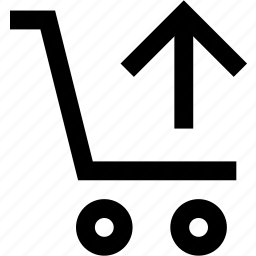 arrow, bag, basket, cart, shop, shopping, up icon