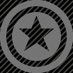 coin, star icon