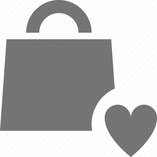 bag, favorite, heart, like, shopping icon
