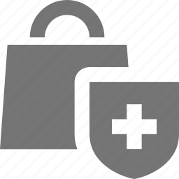bag, security, shield, shopping icon