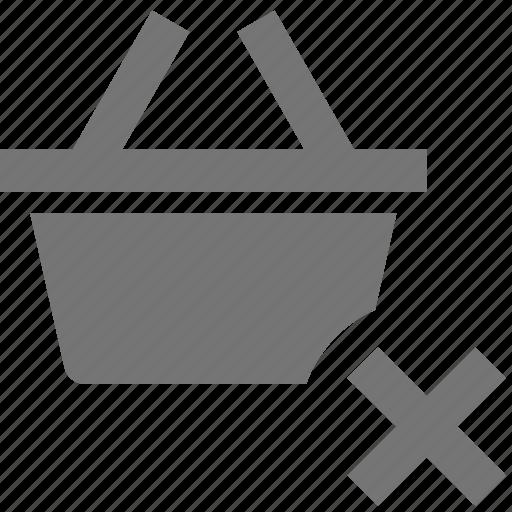 basket, close, delete, shopping icon