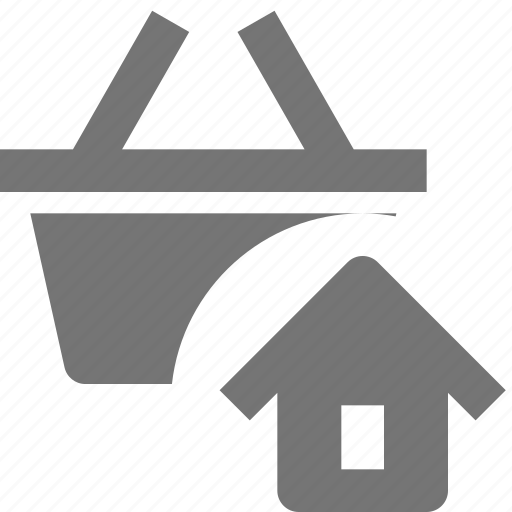 basket, home, house, shopping icon
