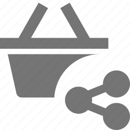 basket, share, shopping icon