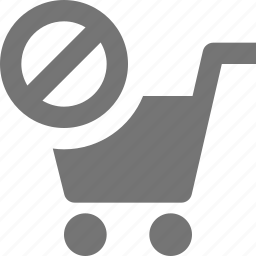 block, cart, shopping, stop icon