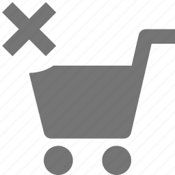 cart, close, delete, shopping icon