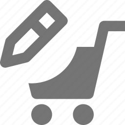 cart, edit, pencil, shopping icon