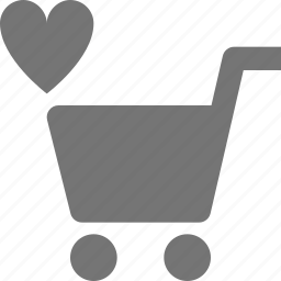 cart, favorite, heart, like, shopping icon