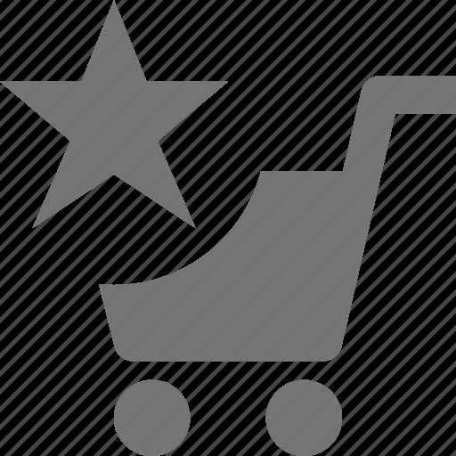 cart, favorite, shopping, star icon