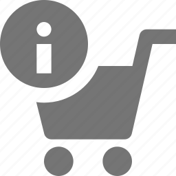 cart, information, shopping icon
