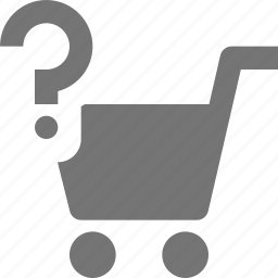 cart, help, question, shopping icon