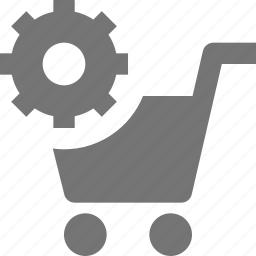 cart, configuration, gear, settings, shopping icon