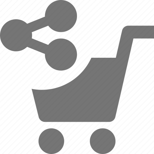 cart, share, shopping icon