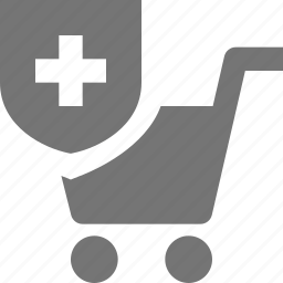 cart, security, shield, shopping icon