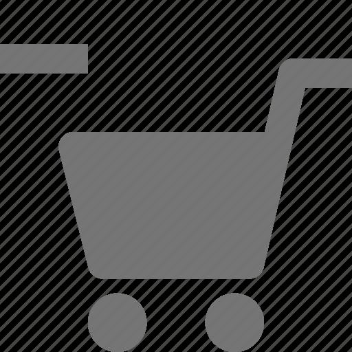 cart, minimize, minus, shopping icon