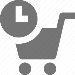 cart, clock, history, shopping, time icon